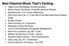 Best Classical Music That's Exciting